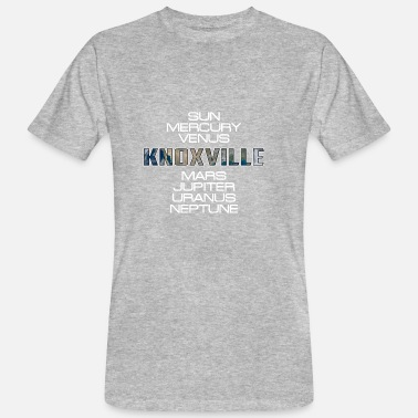 Knoxville Zonnestelsel Planet Earth Gift van Knoxville - Mannen Bio-T-shirt