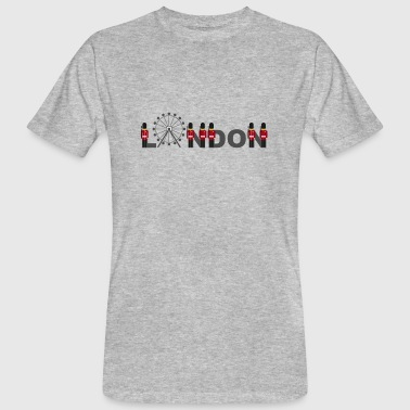 London lettering with palace guards from Buckingham - Men's Organic T-Shirt