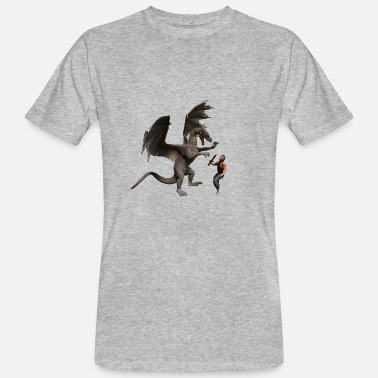 Middle Ages Drache - Männer Bio T-Shirt