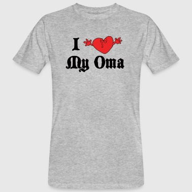I Love My Grandma I Love My Oma Grandma - Men's Organic T-Shirt