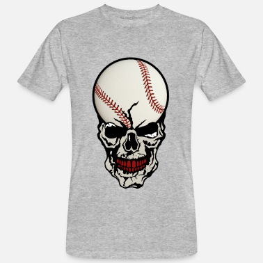 Crane Sports skull baseball ball skull crane sport fan - Men's Organic T-Shirt