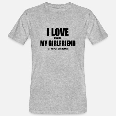 Video Game girlfriend video games nerd - Men's Organic T-Shirt