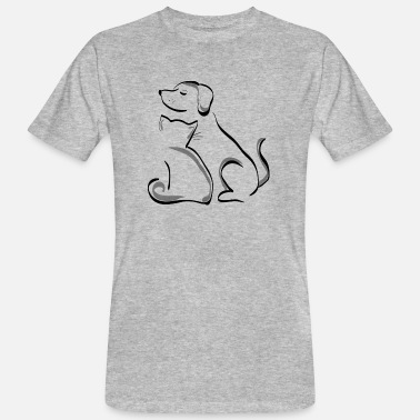 Cat Dog dog and cat - Men's Organic T-Shirt