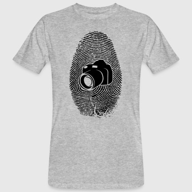 Camera fingerprint - DSLR - SLR camera - Men's Organic T-Shirt