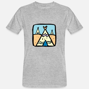 Sioux indian indian american tent tent teepee tomahawk - Men's Organic T-Shirt
