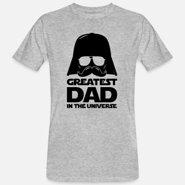 Best papa, father in the world, universe, universe - Men's Organic T-Shirt