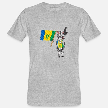 St Vincent En De Grenadines Vincenter Zebra - Mannen Bio-T-shirt