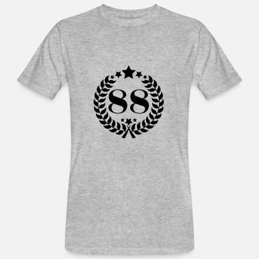 88 Number 88th birthday wreath number 88 vintage age - Men's Organic T-Shirt