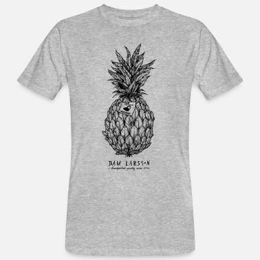 Larsson The Pineapple Experiment - Männer Bio-T-Shirt
