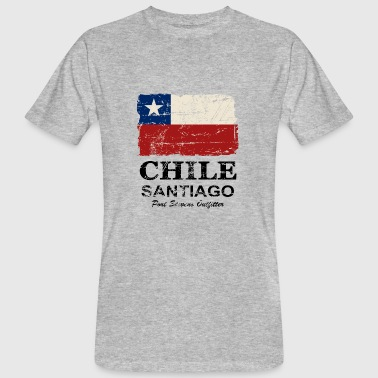 Chile Flag - Vintage Look - T-shirt bio Homme