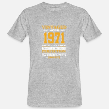 Made In 1971 Vintaged Made In 1971 Limited Editon - Camiseta ecológica hombre