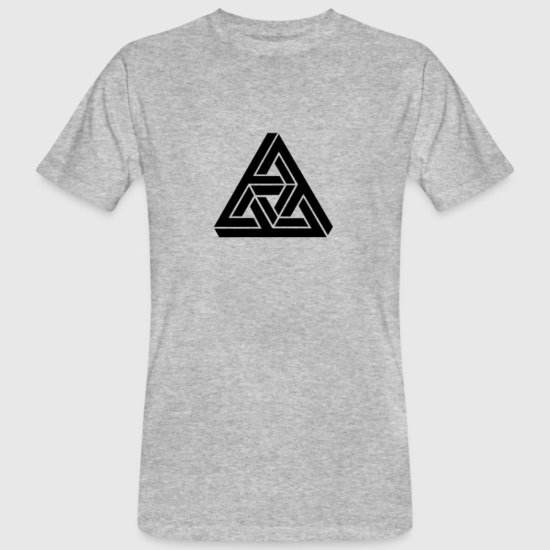 Impossible Triangle, optical illusion, Escher - Men's Organic T-shirt