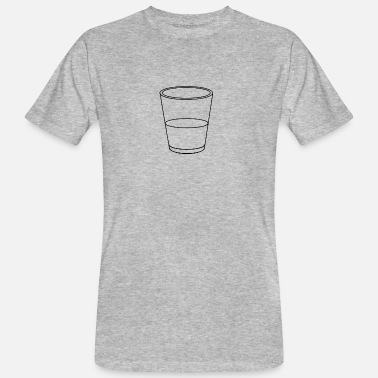 Half Empty Glass half full / empty - Men's Organic T-Shirt