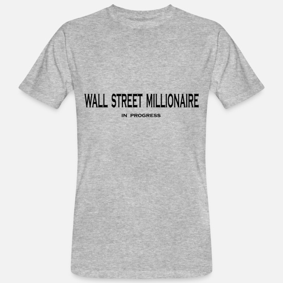 Gold T-Shirts - stock market - Men's Organic T-Shirt heather grey