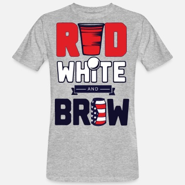 Brow Red white and brow - Men's Organic T-Shirt