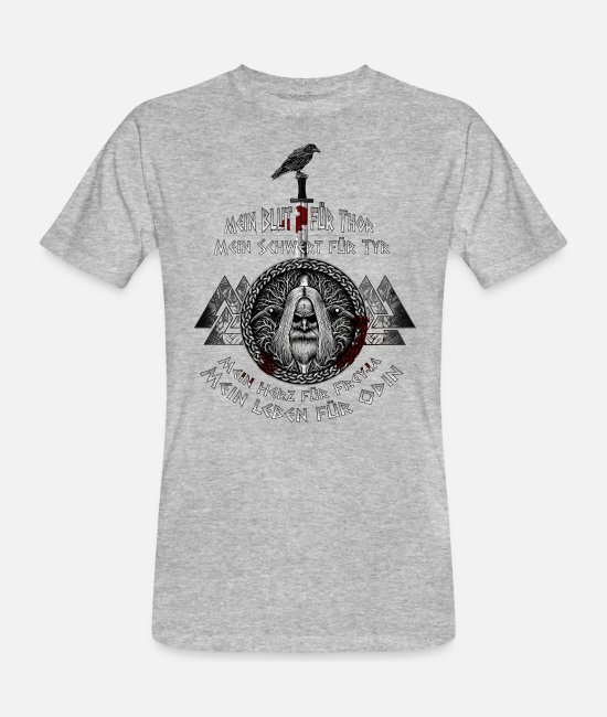 Walhalla T-Shirts - Mein Leben für Odin! - Men's Organic T-Shirt heather grey