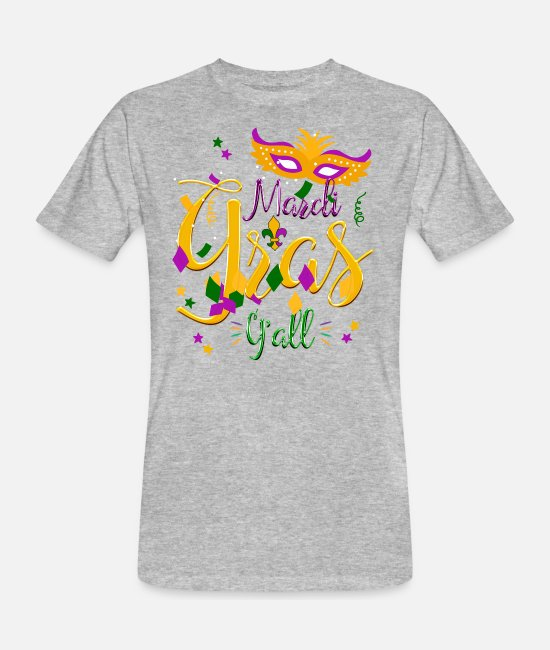 Mardi Gras T-Shirts - Mardi Gras Y'all Mardi Gras T-Shirt Gift - Men's Organic T-Shirt heather grey