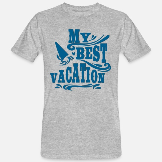 Surfer T-Shirts - My best vacation - Best Vacation - Men's Organic T-Shirt heather grey
