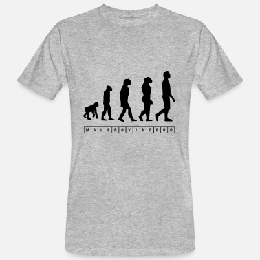 Evolutionary History Evolution Malebovinepoo. - Men's Organic T-Shirt