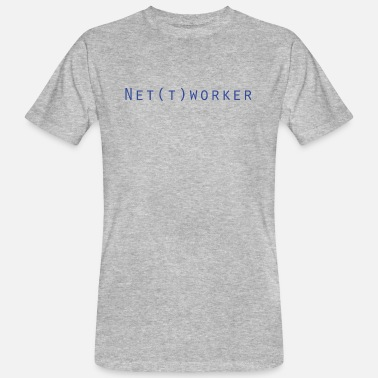 Edv Net(t)worker IT Nerd Informatik - Männer Bio T-Shirt