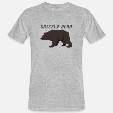 Grizzly Grizzly Bear - Maglietta ecologica uomo