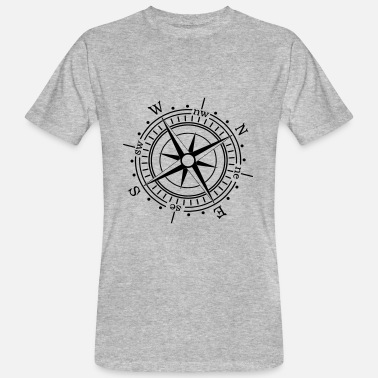 Hiking Compass maritime sea navigation nautical - Men's Organic T-Shirt