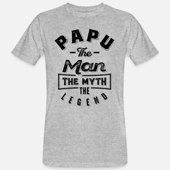 Father's Day T-Shirts - Papu The Man Myth Legend Grandpa Gift Men Father - Men's Organic T-Shirt heather grey