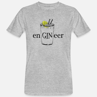 Gin ENGINEER (Gin and Tonic) - Maglietta ecologica uomo