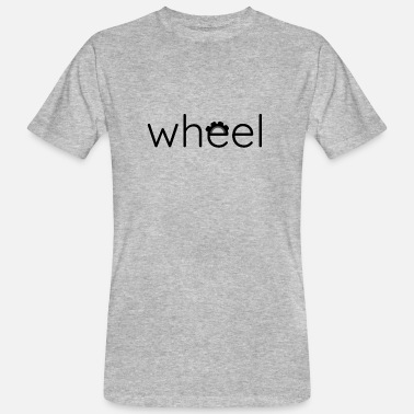 Graphic Design Wheel - Mannen bio T-shirt