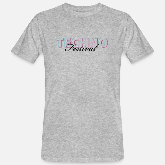 Music T-Shirts - Techno Festival - Men's Organic T-Shirt heather grey