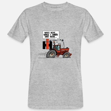 Internationale Wait here (IH) - Mannen bio T-shirt