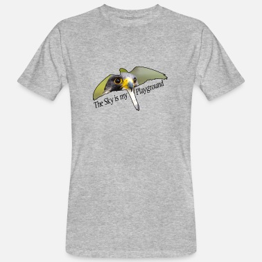Peregrine Falcon Sky is my playground. Peregrine falcon. - Men's Organic T-Shirt
