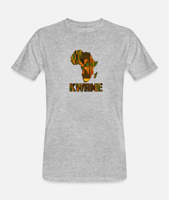 Art T-Shirts - Call me by my name ! KWAME Ghana - Saturday. - Men's Organic T-Shirt heather grey