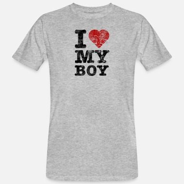 I Love I Love my Boy vintage dark - Männer Bio T-Shirt