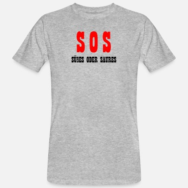 Senior SOS sweet or sour gift Halloween - Men's Organic T-Shirt