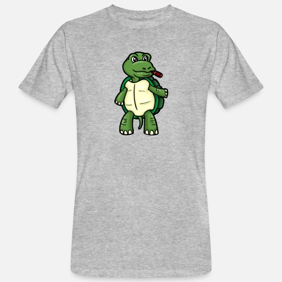 Cigare T-shirts - Tortue crapaud crapaud - T-shirt bio Homme gris chiné
