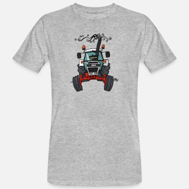 Tractor 0421 Red white tractor - Men's Organic T-Shirt