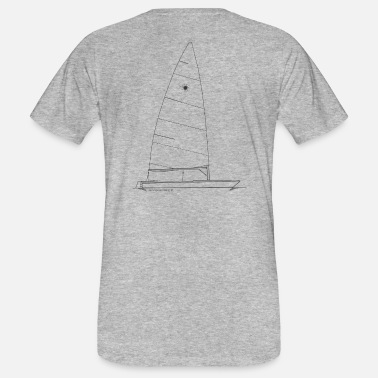 Dinghy Graphic of a laser dinghy for shirts & cups - Men's Organic T-Shirt