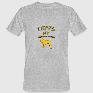 I love my dog Airedale Terrier - Men's Organic T-shirt