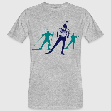 Biathlon - cross country skiing - skiing - ski - Men's Organic T-shirt