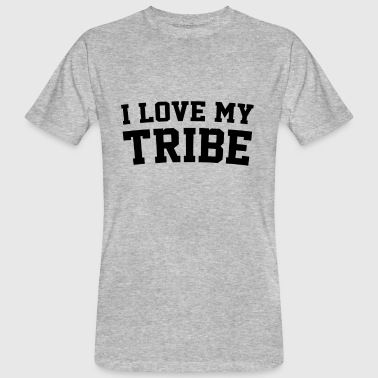 I Love My Tribe - Family Reunion - Mannen Bio-T-shirt