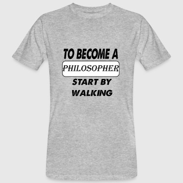 to become a philosopher - Men's Organic T-shirt