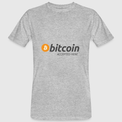 Bitcoin accepted here - Men's Organic T-shirt