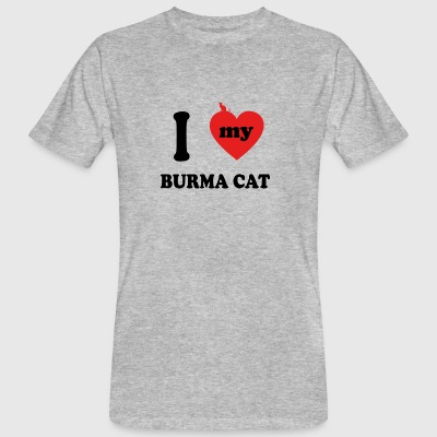 amo gatos gordos CAT BIRMANIA - Camiseta ecológica hombre