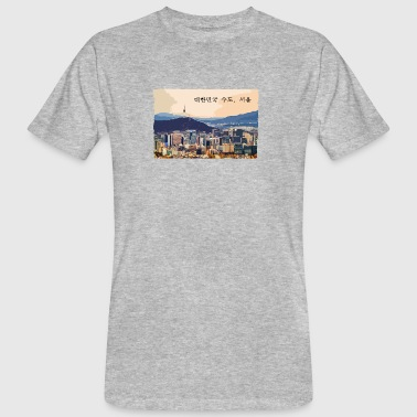 Seoul at Sunset - Männer Bio-T-Shirt