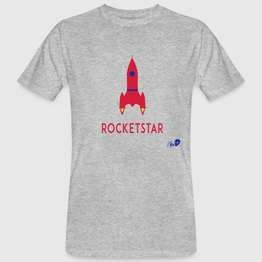 ROCKET STAR - Økologisk T-skjorte for menn