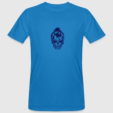 A skull  with 50s hairstyle - Men's Organic T-shirt