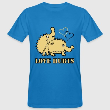 Love Hurts Hedgehogs - T-shirt ecologica da uomo