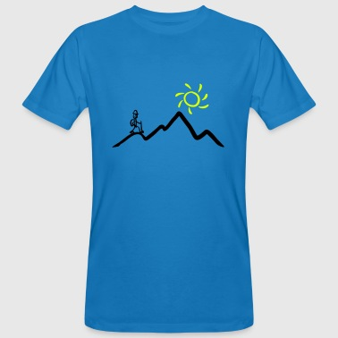 Stickman hiking on the mountains & sunshine - Men's Organic T-Shirt