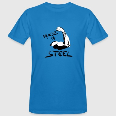 Muscles, Fitness - Made of Steel - Mannen Bio-T-shirt